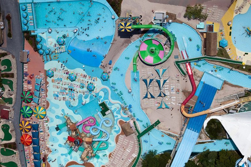 Theme Park Birds Eye View