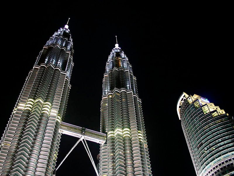 Asian Structures Petronas Towers Lights