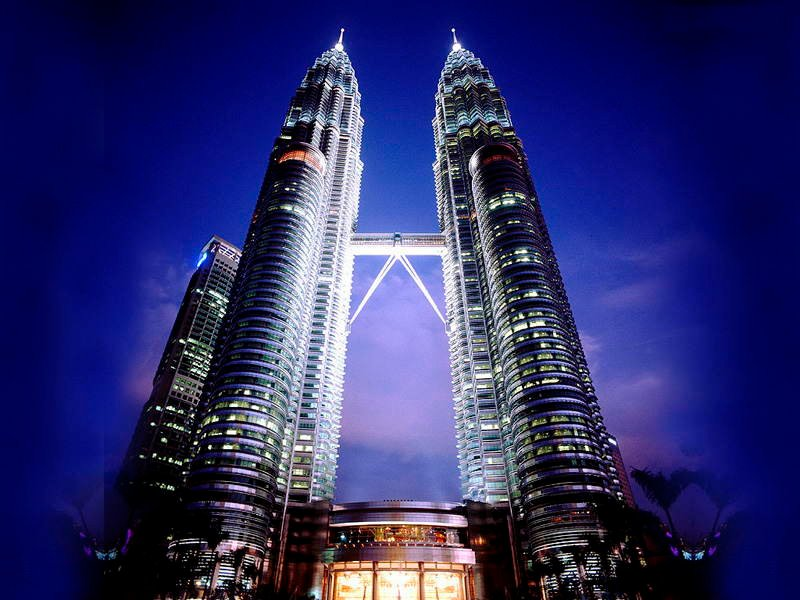 Asian Structures Petronas Towers Night