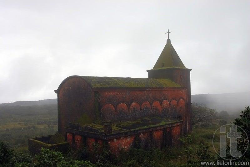 Foggy Abandoned Church