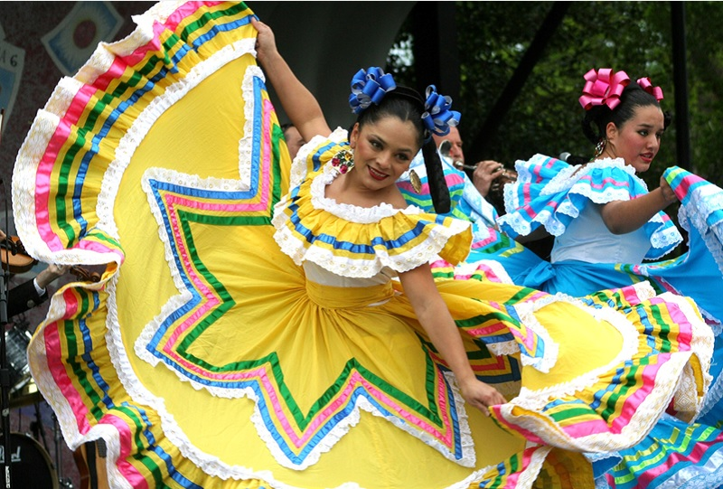 Colorful Dancers Honor Mexican Heritage