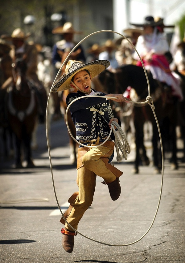 Boy Performs in Cinco de Mayo Parade