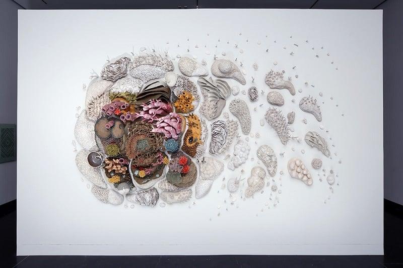 Porcelain Coral Artwork by Courtney Mattison