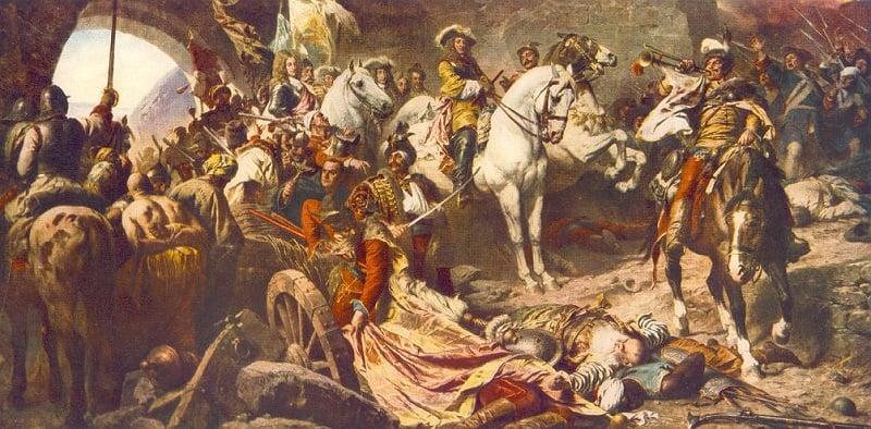 Original Painting of Battle of Buda