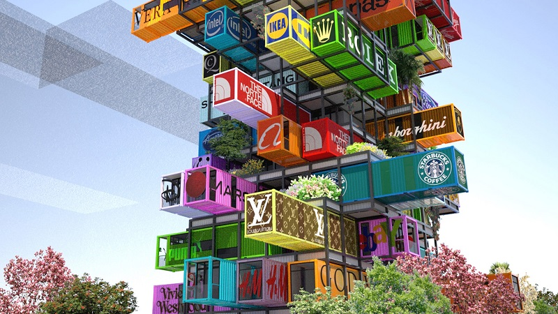 Advertising Shipping Containers