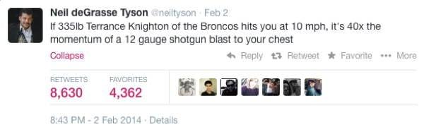 Neil DeGrasse Tyson Tweets Broncos