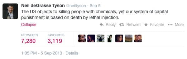 Neil DeGrasse Tyson Tweets Chemical Weapons
