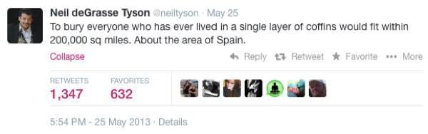 Neil DeGrasse Tyson Tweets Coffins