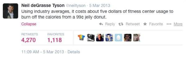 Neil DeGrasse Tyson Tweets Donut