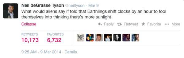 Neil DeGrasse Tyson Tweets Earthlings