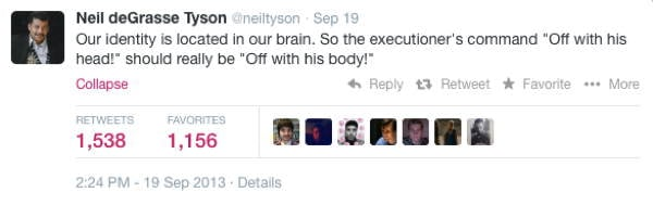 Neil DeGrasse Tyson Tweets Executioner