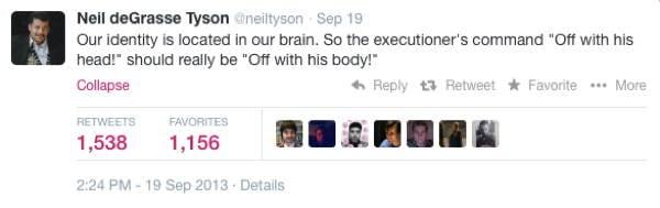 Neil DeGrasse Tyson Tweets Executioner