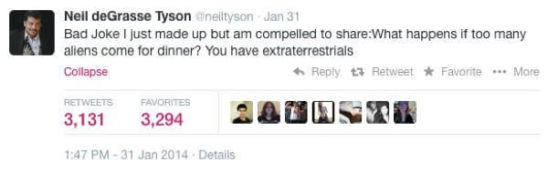 Neil DeGrasse Tyson Tweets ET