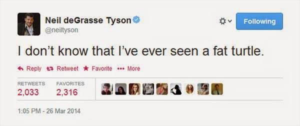 Neil DeGrasse Tyson Tweets Fat Turtle