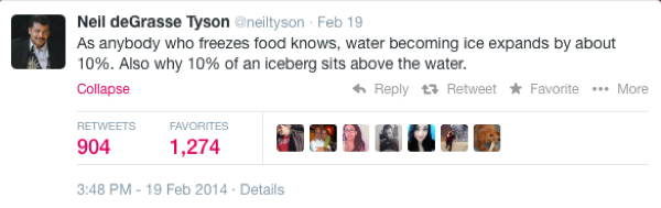 Neil DeGrasse Tyson Tweets Icebergs