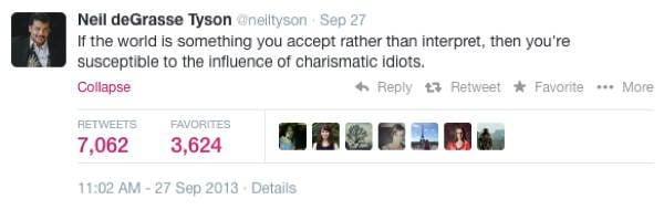 Neil DeGrasse Tyson Tweets Idiots