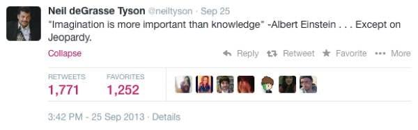 Neil DeGrasse Tyson Tweets Jeopardy