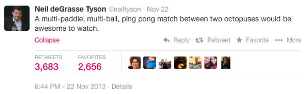 Neil DeGrasse Tyson Tweets Octopus