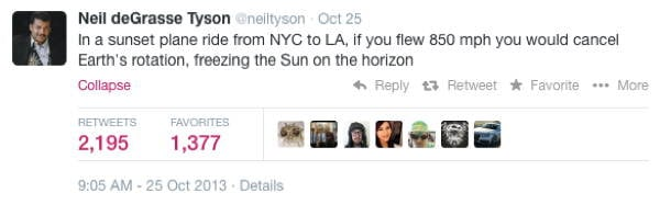 Neil DeGrasse Tyson Tweets Plane Ride