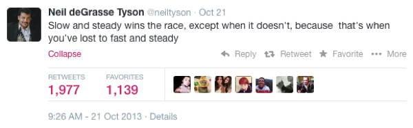 Neil DeGrasse Tyson Tweets Race