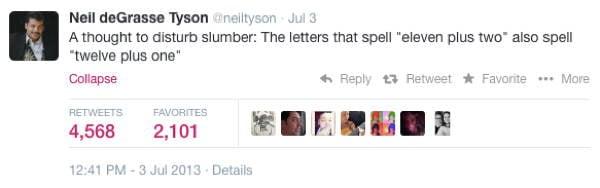 Neil DeGrasse Tyson Tweets Spelling
