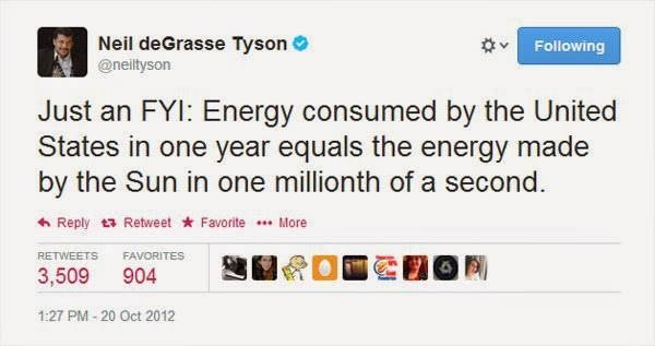 Neil DeGrasse Tyson Tweets US Energy