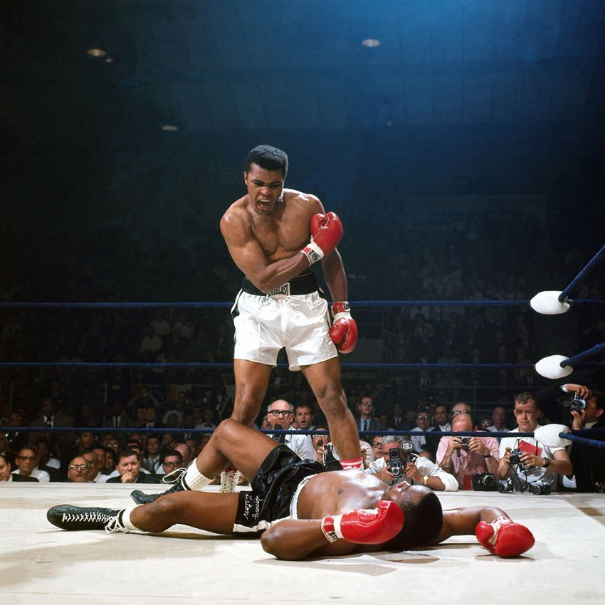 Sports Photos Ali Liston Knockout