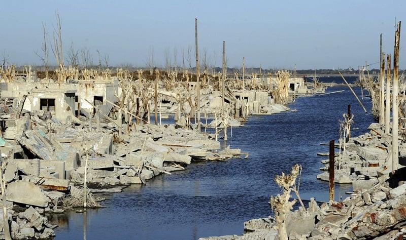 Saltwater Laps at Concrete Ruins
