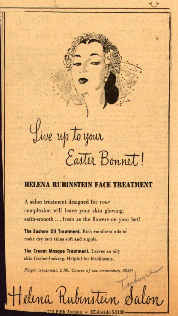 Easter Bonnet Vintage Ad
