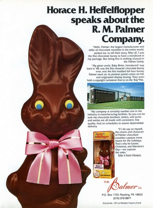 Chocolate Bunny Vintage Ads