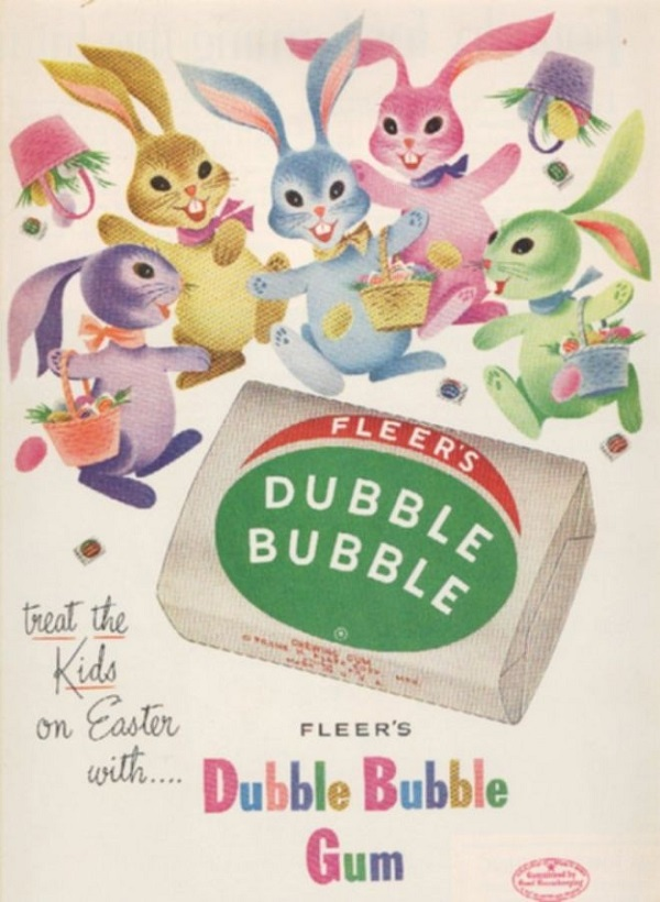 Dubble Bubble Vintage Easter Ad