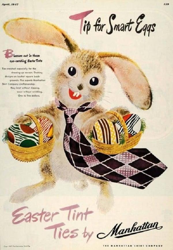 Vintage Easter Advertisement Manhattan