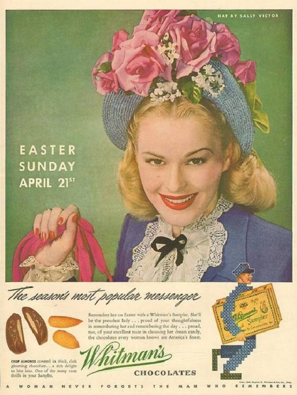 Vintage Easter Whitman's Chocolate Ad