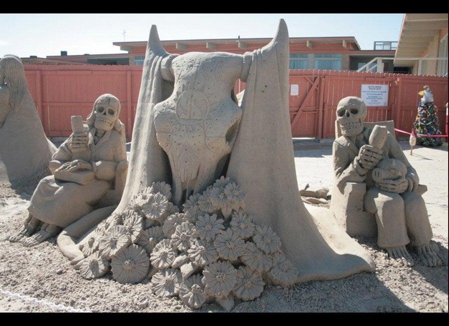 Jara Skeleton Skull Sand Art