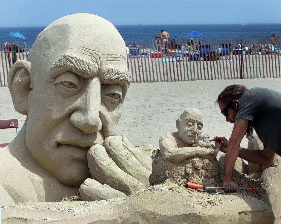 Carl Jara Sand Sculptures
