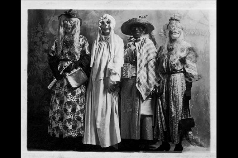 Creepy Masks Vintage Halloween