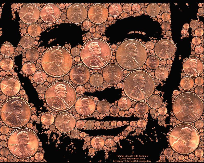 Penny Art Abraham Lincoln