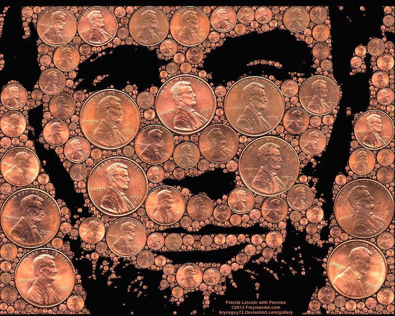 Penny Art Abraham Lincoln