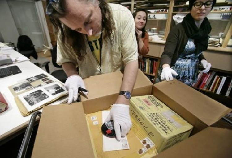 Andy Warhol Cataloging Time Capsules
