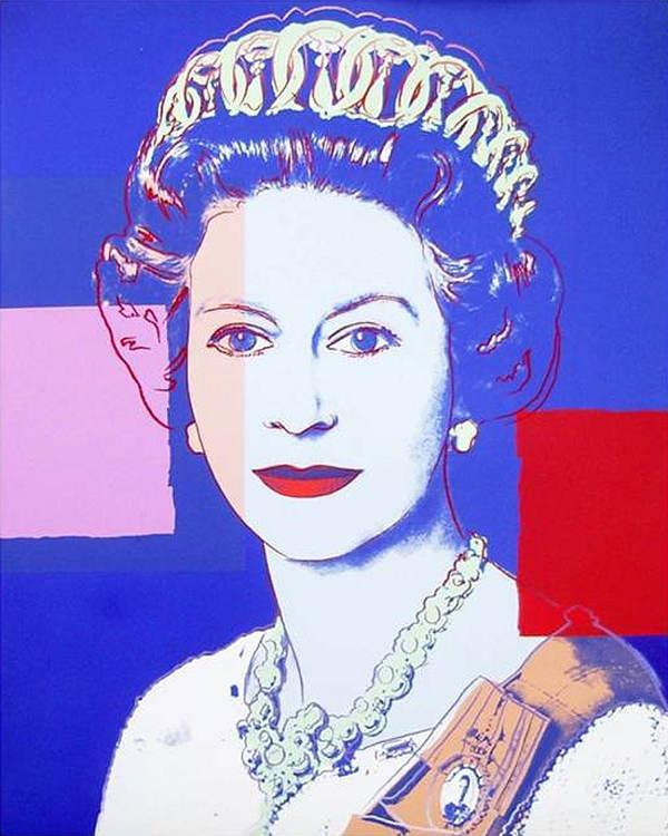 Andy Warhol With Queen Elizabeth