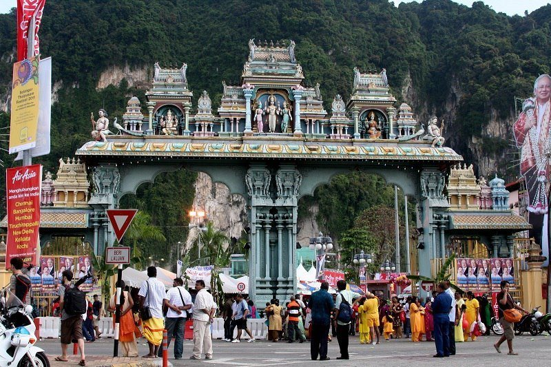 Visitors at Malaysian Hindu Temple