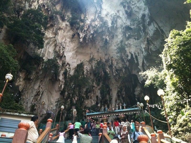 Visitors at Malaysian Caves