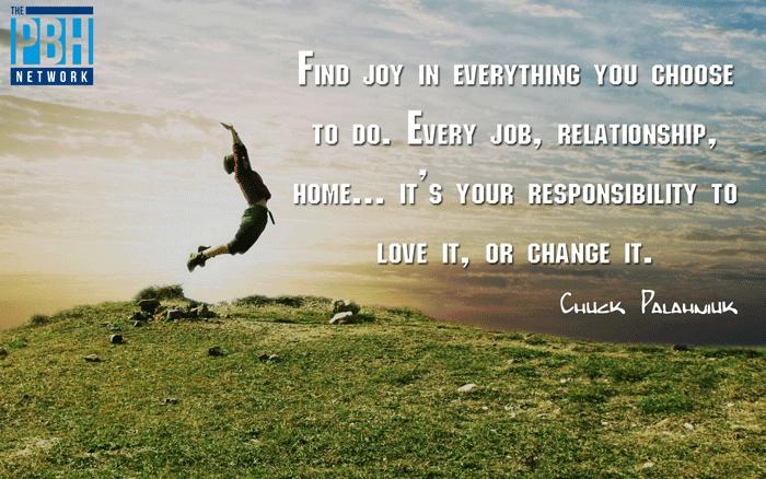 Chuck Palahniuk On Finding Joy