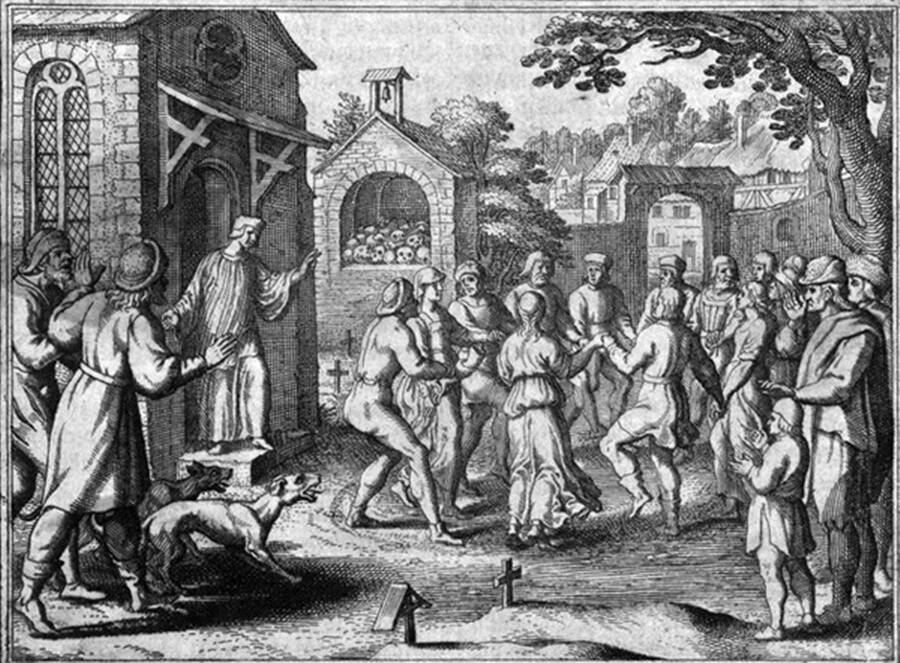 Depiction Of The Dancing Plague