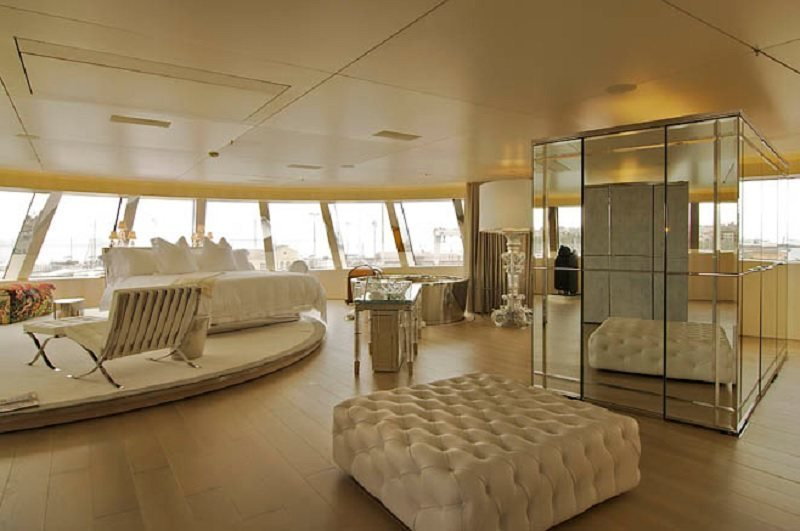 Master Bedroom in Expensive Yacht