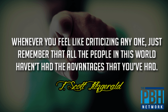 F. Scott Fitzgerald On Criticizing