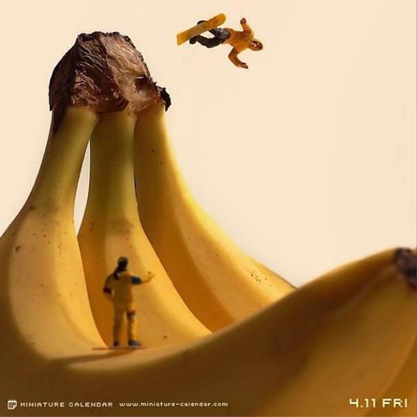 Food Art Banana Slope