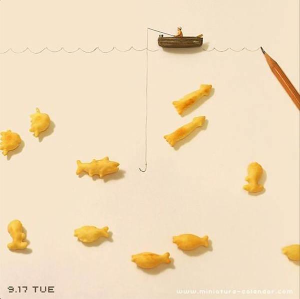 Food Art Fish Crackers