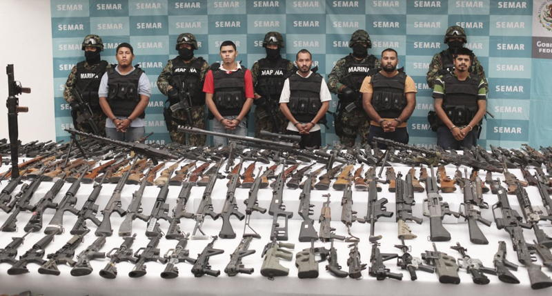 Los Zetas Arrested Guns