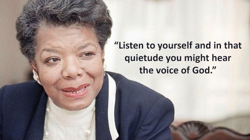 Maya Angelou Last Tweet